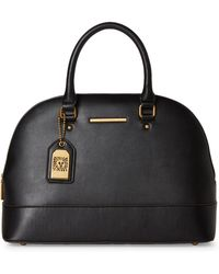 Anne Klein - Black Buckle Up Dome Large Satchel - Lyst