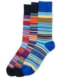 Unsimply Stitched - 3-Pack All Stripe Crew Socks - Lyst