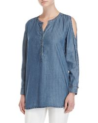 NIC+ZOE - Striped Cold Shoulder Tunic - Lyst