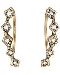 Luv Aj - Gold-tone Diamond-shaped Crawler Earrings - Lyst