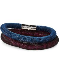 Swarovski - Blue & Purple Stardust Bracelet Set - Lyst
