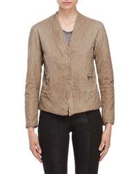 Transit - Textured Leather Jacket - Lyst