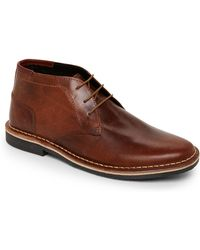 Steve Madden - Cognac Harken Leather Chukkas - Lyst