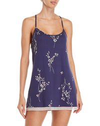 In Bloom - Printed Jersey Chemise - Lyst