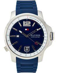Tommy Hilfiger - 1791220 Silver-tone & Blue Brandon Watch - Lyst