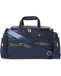 Robert Graham - Navy San Pedro Leather Trim Duffel Bag - Lyst