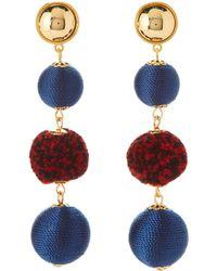 Rebecca Minkoff - Gold-tone Threaded Pom-pom Earrings - Lyst