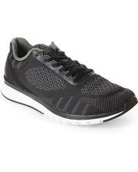 Reebok - Black Print Smooth Ultk Sneakers - Lyst