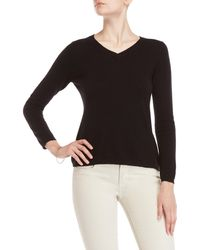 61028507b9 Lyst - Qi Studded Scoop Neck Sweater in Black