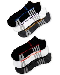 converse no show socks. converse | 6-pack color dash no-show socks lyst no show