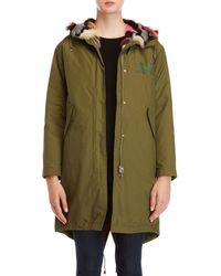 Army by Yves Salomon - Real Fur Lined Hooded Parka - Lyst