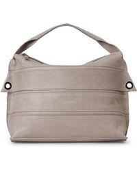 Malloni - Horizontal Straps Leather Top Handle Bag - Lyst