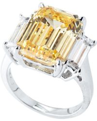 Fantasia by Deserio - Silver-tone & Yellow Ring - Lyst