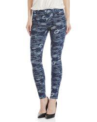 Karen Millen - Blue Camo Skinny Jeans - Lyst