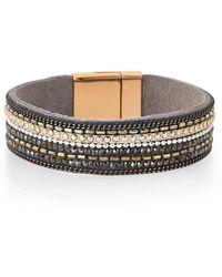 pannee by panacea - Embellished Wrap Bracelet - Lyst