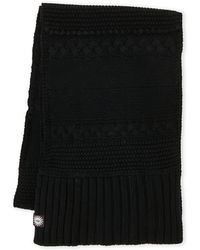 UGG - Cable Knit Wool Blend Scarf - Lyst