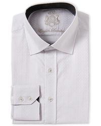 English Laundry - White Jacquard Regular Fit Dress Shirt - Lyst