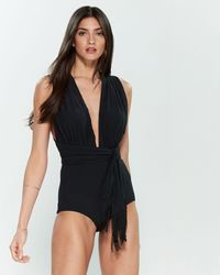 0f58bcd086 Michael Kors Michael One Shoulder Animal Print One Piece Swimsuit in Brown  - Lyst