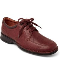 Clarks - Tobacco Northam Pace Oxfords - Lyst