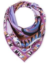 Emilio Pucci | Printed Square Silk Scarf | Lyst