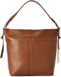 T Tahari - Caramel Riley Leather Hobo Bag - Lyst