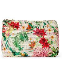 Imoshion - Bird Raffia Floral Cosmetic Bag - Lyst