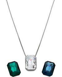 Lyst swarovski verso faceted crystal interchangeable pendant necklace swarovski verso interchangeable pendant necklace lyst aloadofball Images