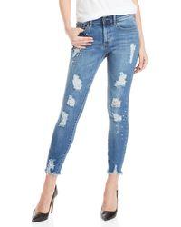 Buffalo David Bitton - Faith Mid-rise Skinny Stretch Jeans - Lyst