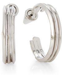 Eddie Borgo - Silver-tone Trace Hoop Earrings - Lyst