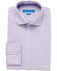 Vince Camuto - Bright Purple Dobby Slim Fit Dress Shirt - Lyst
