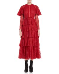Giambattista Valli - Red Tiered Lace Gown - Lyst