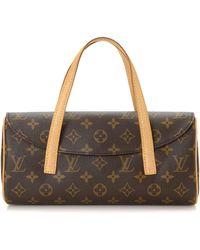 2ab4ee5ce3e4 Lyst - Louis Vuitton Sonatine Handbag Bag Monogram Canvas M51902 in ...