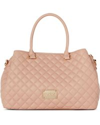 Bebe - Blush Danielle Quilted Satchel - Lyst