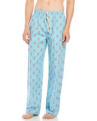 Psycho Bunny | Contrast Print Pajama Pants | Lyst