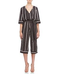 Bishop + Young - Striped Belted Jumpsuit - Lyst