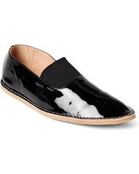 Dries Van Noten - Black Patent Leather Slip-ons - Lyst