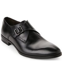 Bruno Magli - Black Regale Leather Monk Strap Shoes - Lyst