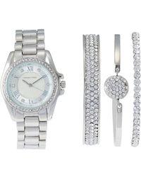 Adrienne Vittadini - Ad1034S165 Silver-Tone Watch & Bangle Set - Lyst