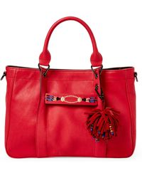 Leather Red Medium Lyst Massai 3d Tote Longchamp qHn0tIaxn