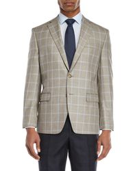 Lauren by Ralph Lauren | Grey Plaid Sport Coat | Lyst