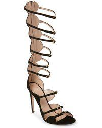 f835952f64a9 Giambattista Valli - Black Strappy High Heel Gladiator Sandals - Lyst