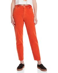 Fiorucci - Orange Yves Slim Cropped Corduroy Pants - Lyst