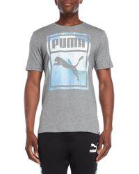 PUMA - Photo Print Logo Tee - Lyst