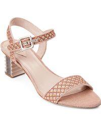 Aperlai - Copper Sandy Metallic Jacquard Sandals - Lyst