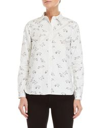 Le Mont St Michel - Pup Print Shirt - Lyst