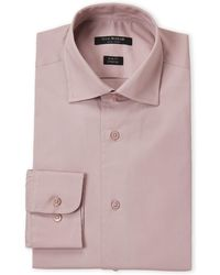 Isaac Mizrahi New York - Dusty Rose Stretch Slim Fit Dress Shirt - Lyst