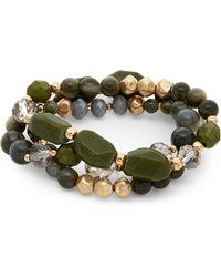 Catherine Stein - Three-Strand Olive Stretch Bracelet - Lyst