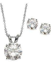 laudic - Silver-Tone Necklace & Stud Earrings Set - Lyst