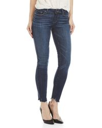 PAIGE - Bonnie Distressed Verdugo Ankle Ultra Skinny Jeans - Lyst