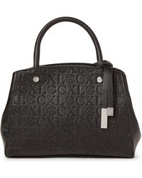 CXL by Christian Lacroix - Anabelle Embossed Logo Satchel - Lyst